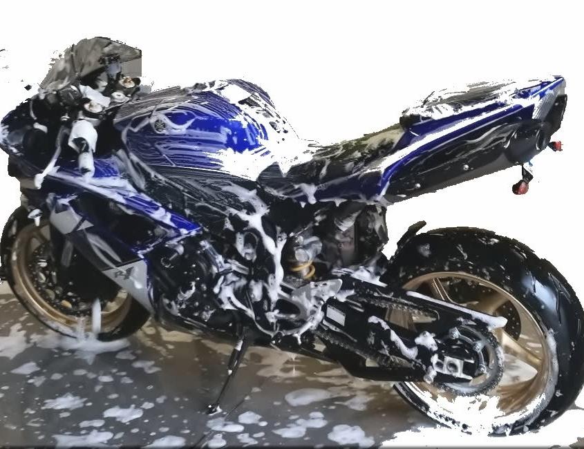 Immagine stilizzata di moto lavaggio