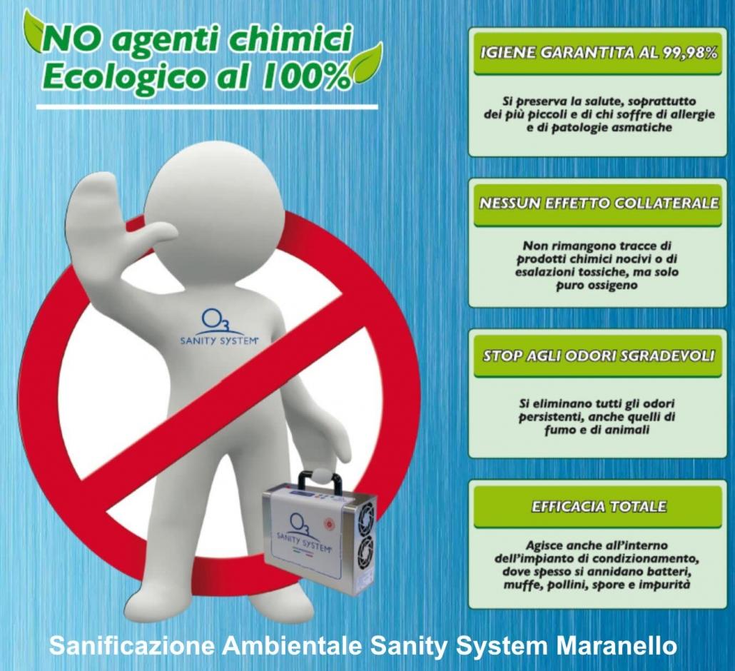 Immagine che indica le caratteristica della sanificazione ad ozono