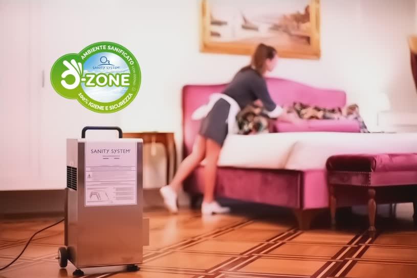 Immagine che rappresenta una camera di hotel igienizzata con ozono