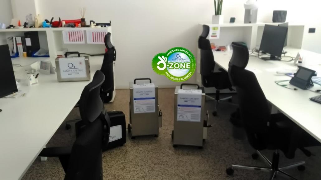 Immagine di ufficio sanificato con ozono